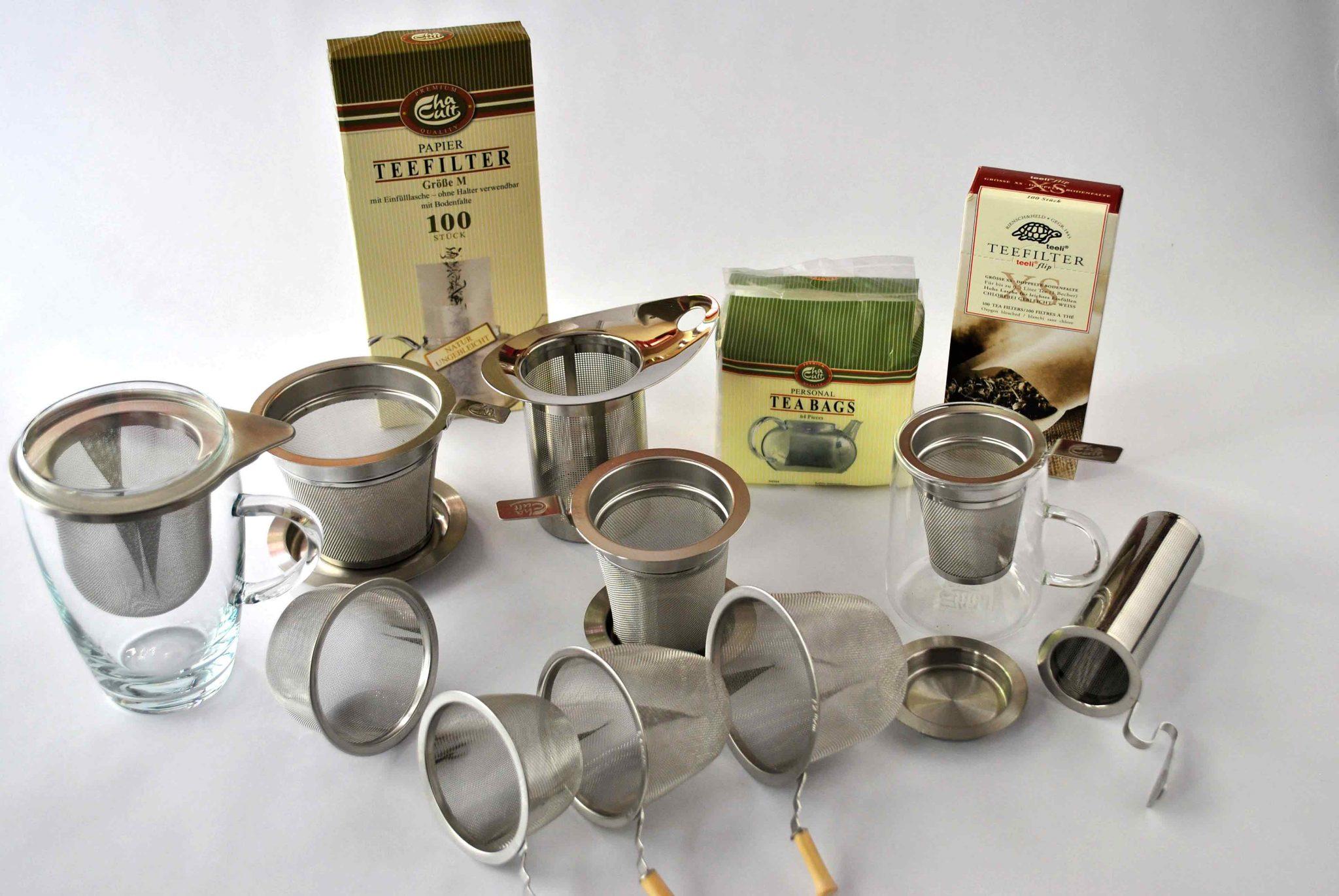 Filtros y latas para el té